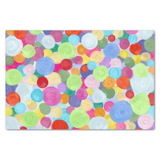 Colourful dots tissue paper