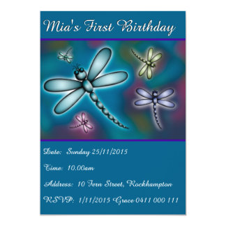 Colourful Dragonfly Card