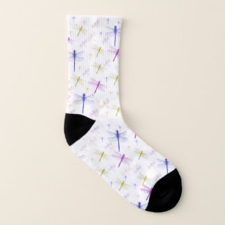 Colourful dragonfly pattern socks 1