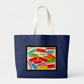 COLOURFUL DRUG LABEL JUMBO TOTE BAG