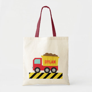 Colourful Dump Truck, Construction Vehicle for Boy Tote Bag