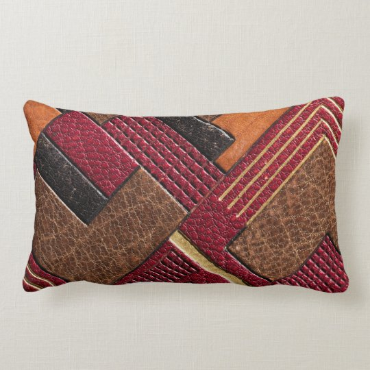 Colourful Dyed and Tooled Leather Cigarette Case Lumbar Cushion