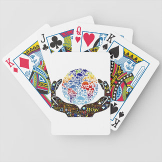 Colourful Earth Bicycle Playing Cards