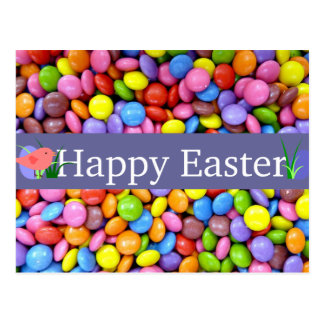 Colourful Easter Candies Postcard