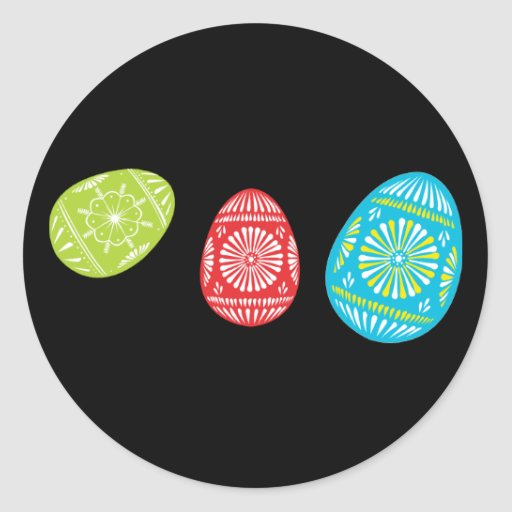 Colourful Easter Eggs Sticker 1