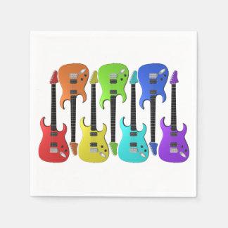 Colourful Electric Guitars Paper Napkins Paper Napkin