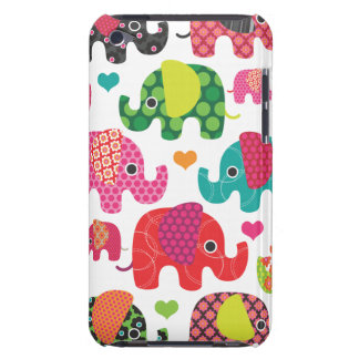 Colourful elephant kids pattern ipod case barely there iPod cases