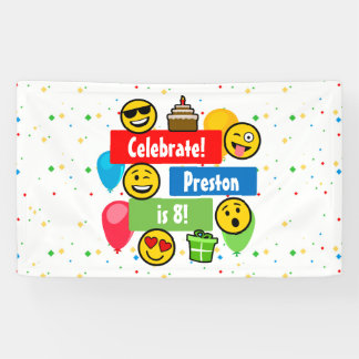 Colourful Emoji Birthday Party Kids or Boys Custom