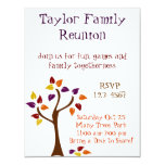 Colourful Fall Tree Personalized Announcement