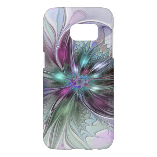 Colourful Fantasy Abstract Modern Fractal Flower