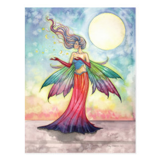 Colourful Fantasy Fairy Postcard