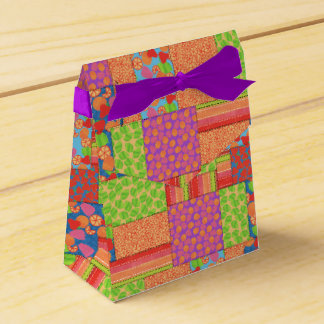 Colourful Faux Patchwork of Summer Fruits Patterns Favour Box