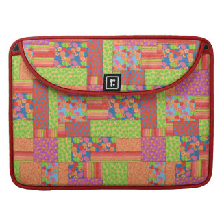 Colourful Faux Patchwork of Summer Fruits Patterns Sleeve For MacBook Pro