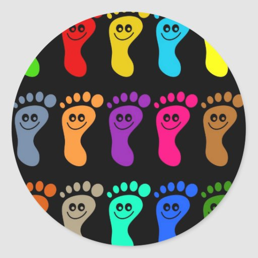 Colourful Feet Stickers