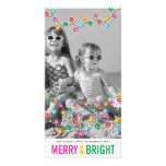 Colourful Festive Lights Glow Holiday Photo Card