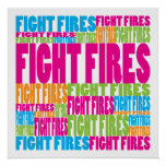 Colourful Fight Fires Poster
