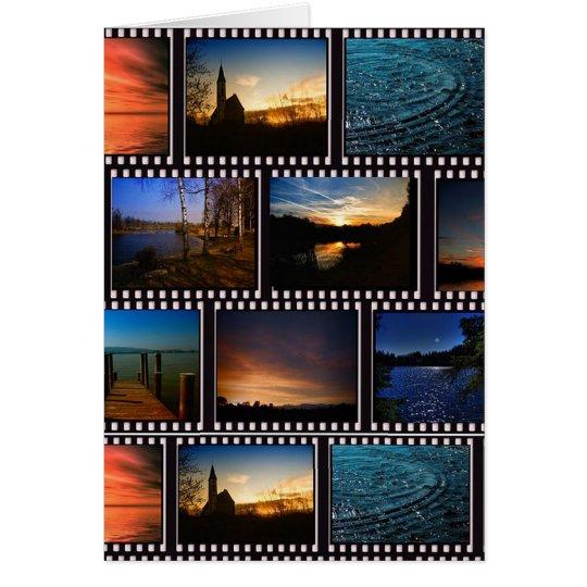 Colourful Film Strips Card