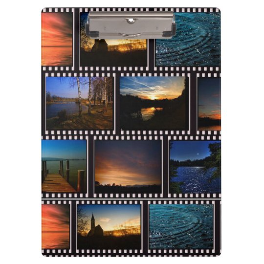Colourful Film Strips Clipboard