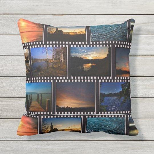 Colourful Film Strips Cushion