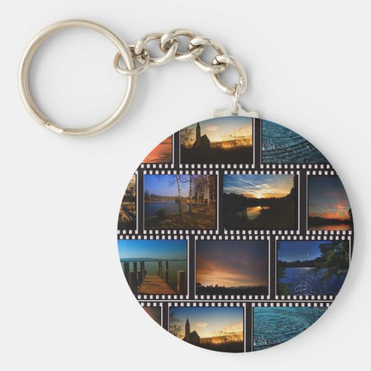 Colourful Film Strips Key Ring