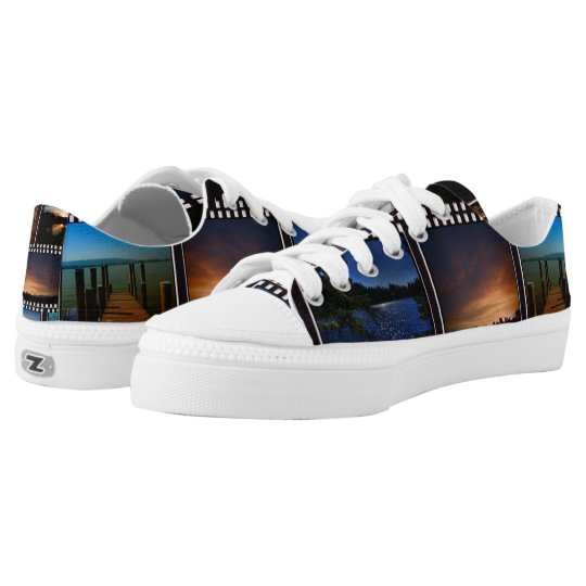 Colourful Film Strips Low Tops