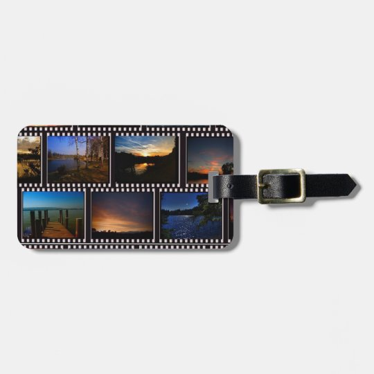 Colourful Film Strips Luggage Tag