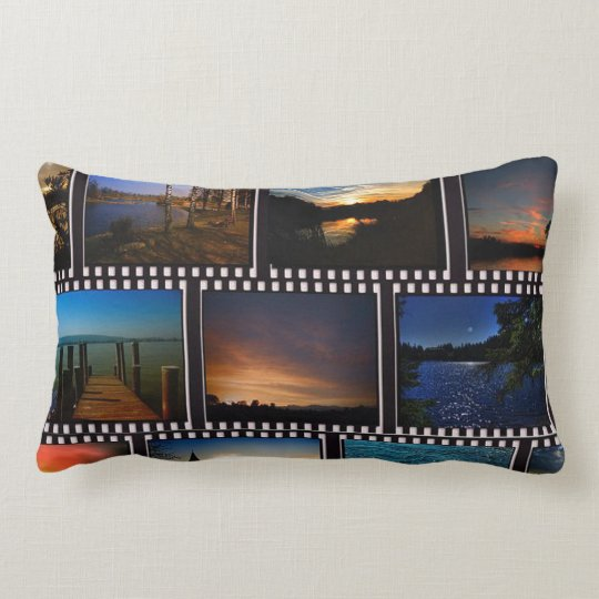 Colourful Film Strips Lumbar Cushion