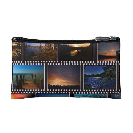 Colourful Film Strips Makeup Bag