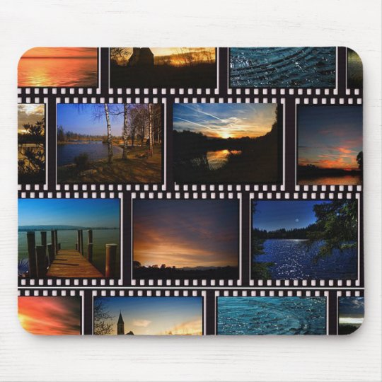 Colourful Film Strips Mouse Pad