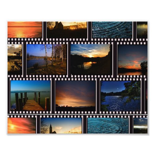 Colourful Film Strips Photo Print