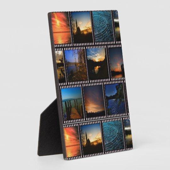 Colourful Film Strips Plaque