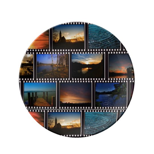 Colourful Film Strips Plate