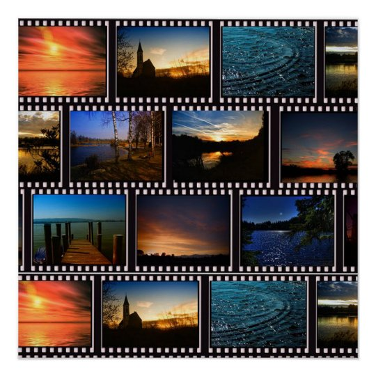 Colourful Film Strips Poster