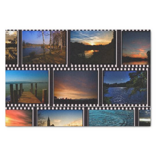 Colourful Film Strips Tissue Paper