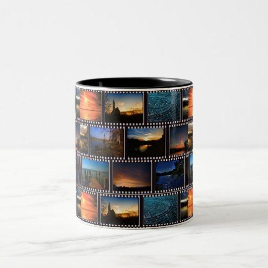 Colourful Film Strips Two-Tone Coffee Mug