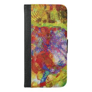 Colourful Fingerprint iPhone 6/6s Plus Wallet Case