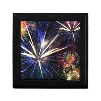 Colourful Fireworks Keepsake Box