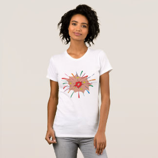 Colourful Fireworks Womens T-Shirt