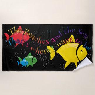 Colourful Fish Beach Towel Designs