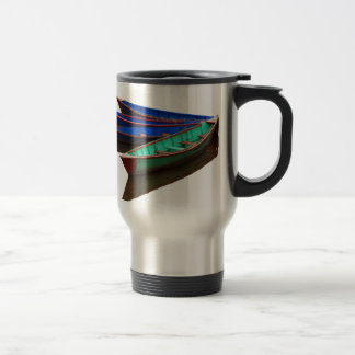 Colourful Fishing Boats Travel Mug