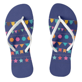 Colourful flags flip flops for everyday wear thongs