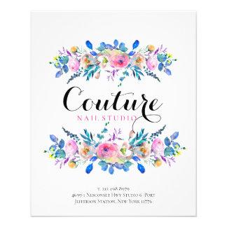 Colourful Floral Bouquet Frame Menu Template