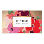 Colourful Floral, Gold Elegant Fashion and Beauty Pack Of Standard Business Cards