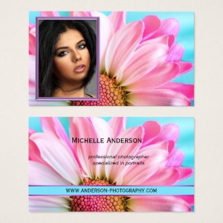 Colourful Floral Photographer Business Card