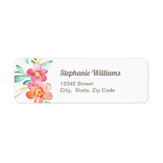 Colourful Floral Return Address Label