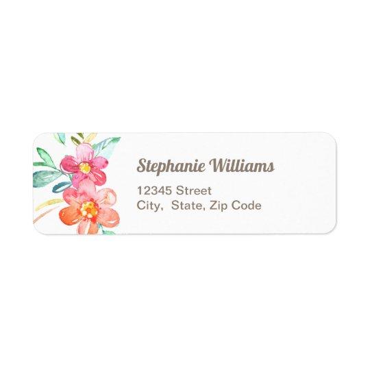 Colourful Floral Return Address Label