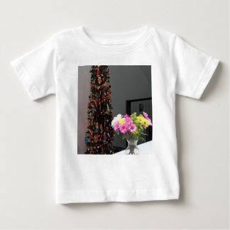 Colourful Flower Bouquet and Christmas Tree Baby T-Shirt