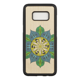 Colourful Flower Design Carved Samsung Galaxy S8 Case