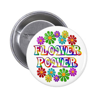 Colourful Flower Power 6 Cm Round Badge