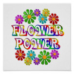 Colourful Flower Power Posters